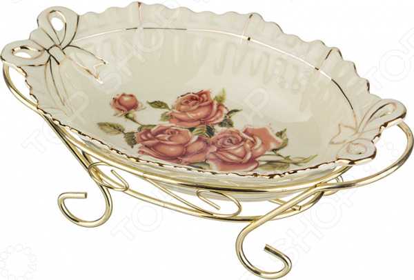 Блюдо на подставке Lefard «Корейская роза» 126-525