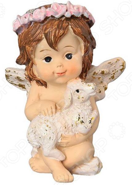 Фигурка декоративная Elan Gallery «Ангелочек с золотой овечкой» 670130