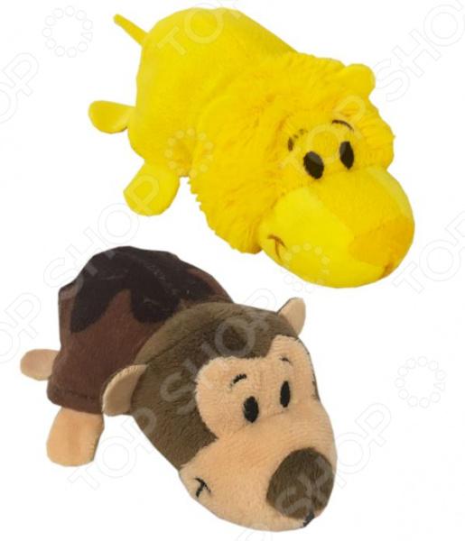Мягкая игрушка ароматизированная 1 Toy «Вывернушка 2в1: Лев-Мартышка»