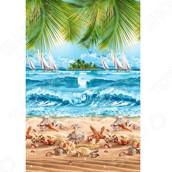 Полотенце банное вафельное ТексДизайн «Райский уголок» кислотные красители в алматы