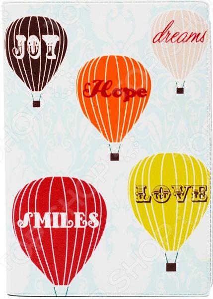 Обложка для автодокументов кожаная Mitya Veselkov «Полет на воздушном шаре»