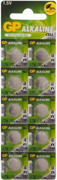 Набор батареек-таблеток щелочных GP Batteries А76/LR44 набор дисковых батареек gp batteries som01 типы 364 377 392 7 шт