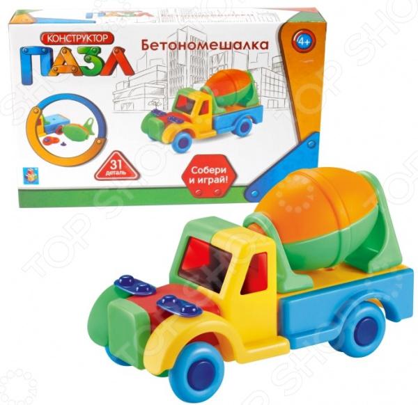 Фото - Конструктор игровой для ребенка 1 Toy «Бетономешалка» конструктор автомобильный парк 7 в 1