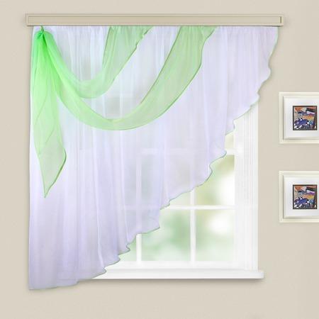 Купить Комплект легких штор левосторонний WITERRA «Азалия». Цвет: белый