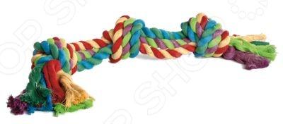 Игрушка для собак Beeztees «Канат с 3-мя узлами» игрушка для собак beeztees i p t s рыбка цвет оранжевый