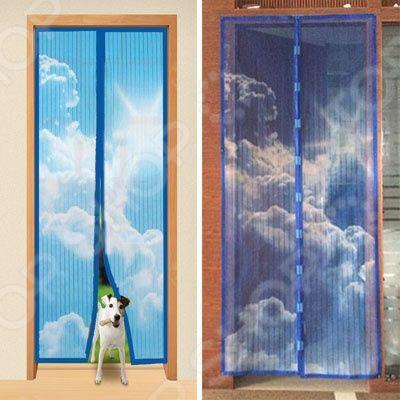 Шторы магнитные на дверь Magic Mesh «Небо»