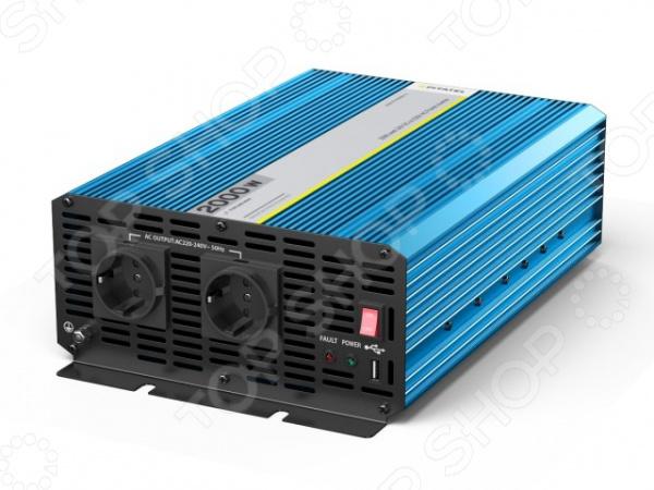 Инвертор автомобильный Pitatel KV-P2000RU.24 автоинвертор pitatel kv m300u 24