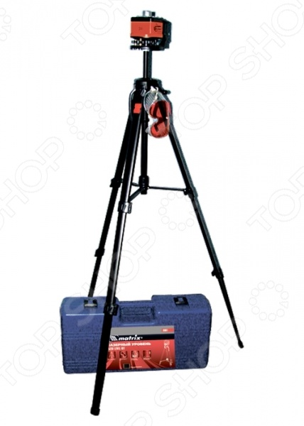 Уровень лазерный MATRIX Master 35031  линейка уровень 1000 мм металлическая пластмассовая ручка 2 глазка matrix master 30577