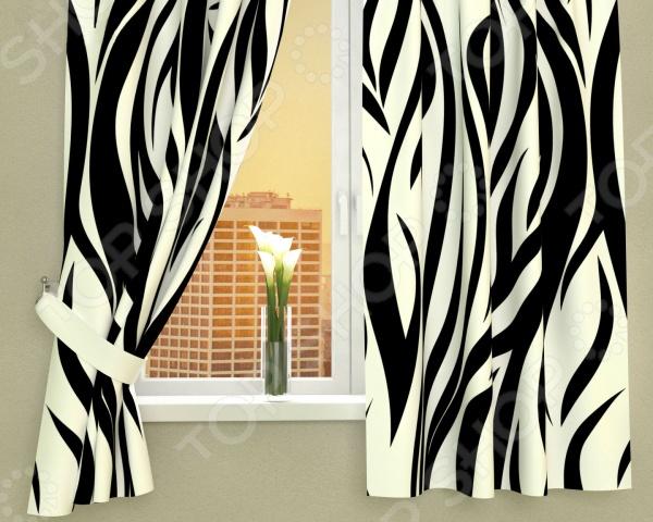 Фотошторы Сирень «Узор-зебра» фотошторы сирень узор 29