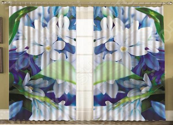 Комплект фотоштор с тюлем «Жасмин»
