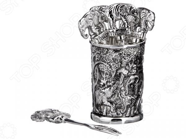 Вилочки для оливок с подставкой Lefard «Слон» 258-015