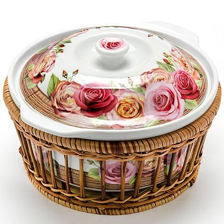 Купить Кастрюля керамическая Mayer&Boch «Домашний уют». Рисунок: розы