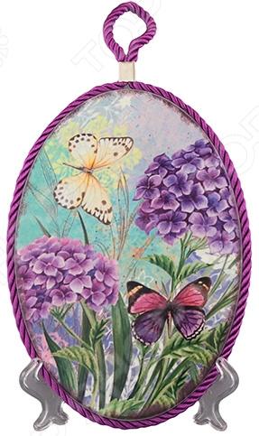Подставка под горячее Elan Gallery «Сирень и бабочки»