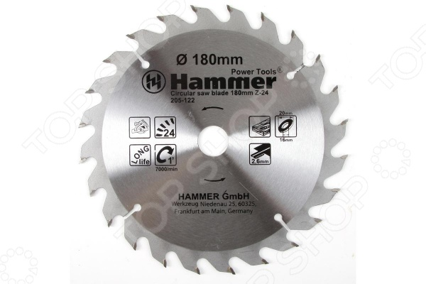 Диск пильный по дереву Hammer Flex 205