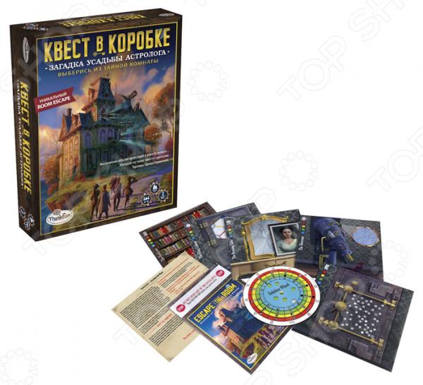 Игра настольная Thinkfun «Загадка усадьбы астролога» thinkfun кубическая головоломка tipover