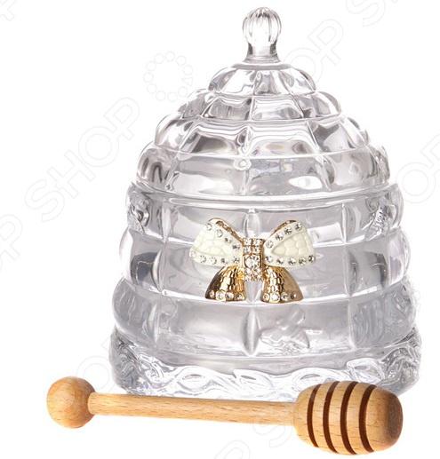 Банка для меда с палочкой Muza 355-052