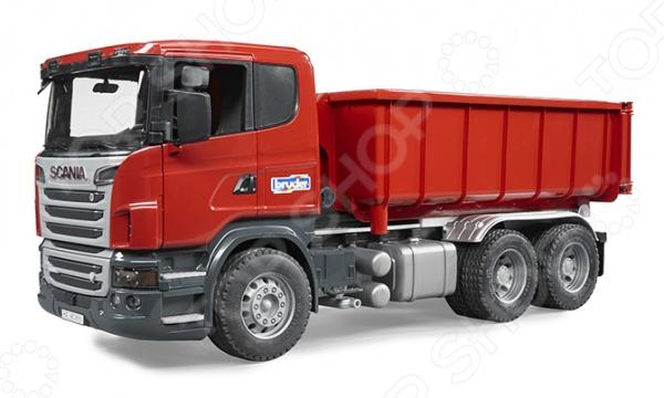 Машинка игрушечная Bruder «Самосвал-контейнеровоз» Scania машины bruder лесовоз scania с портативным краном и брёвнами