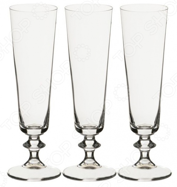 Набор бокалов для шампанского Bohemia Crystal «Бэлла» 674-547