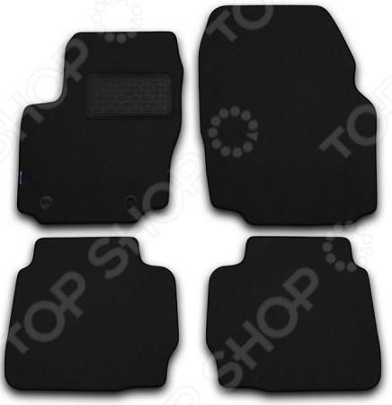 Комплект ковриков в салон автомобиля Autofamily Subaru Forester II 2002-2008 универсал. Цвет: черный коврик в багажник автомобиля novline autofamily для subaru forester 2002 2008