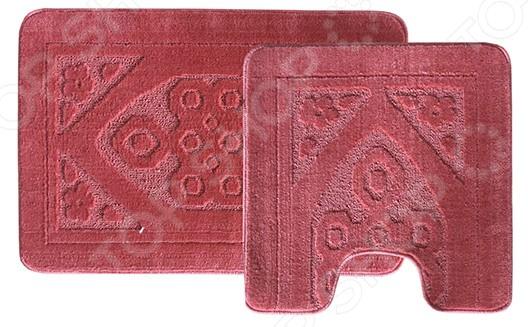 Комплект ковриков для ванной и туалета Dasch «Узор» коврики для ванной dasch комплект симона