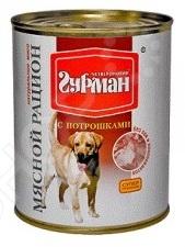 Корм консервированный для собак Четвероногий Гурман «Мясной рацион с потрошками»