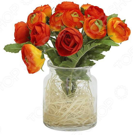 Декоративные цветы Dream Garden «Купальницы оранжевые» в вазе куплю декоративные растения в севастополе