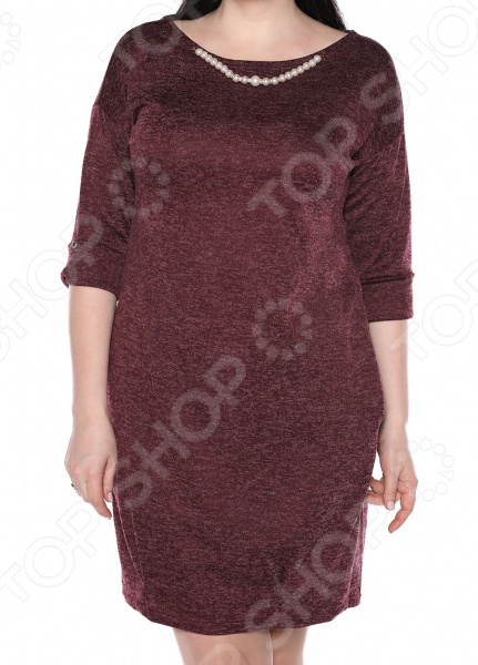 Платье Jenks «Жемчужная романтика». Цвет: бордовый платья jenks платье