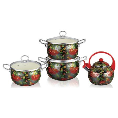 Купить Набор посуды Kelli KL-4459 «Хохлома»