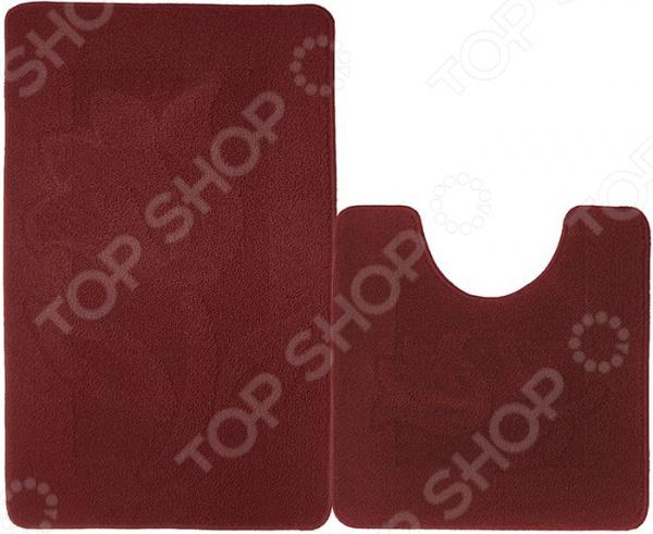 Набор ковриков для ванной комнаты Kamalak textil УКВ-1050