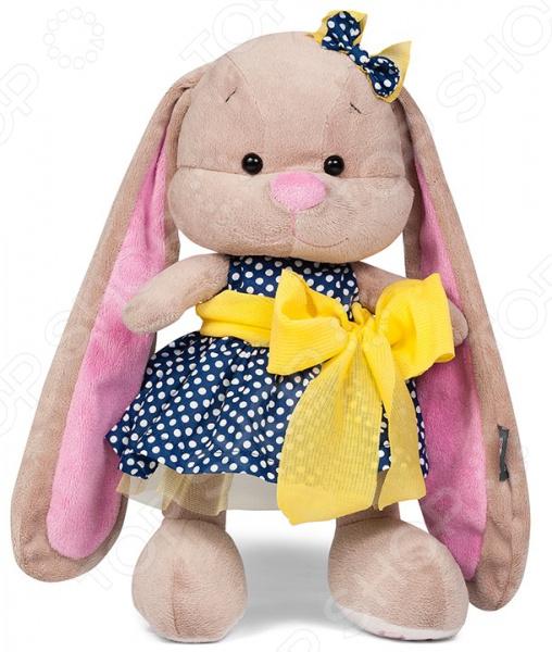 Мягкая игрушка Jack & Lin «Зайка в гороховом платье». Цвет: белый, синий, желтый