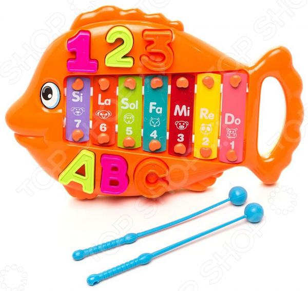 Ксилофон детский Наша Игрушка «Рыбка» 637720. В ассортименте