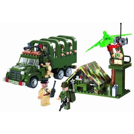 Купить Игровой конструктор Brick «Военный грузовик» 811