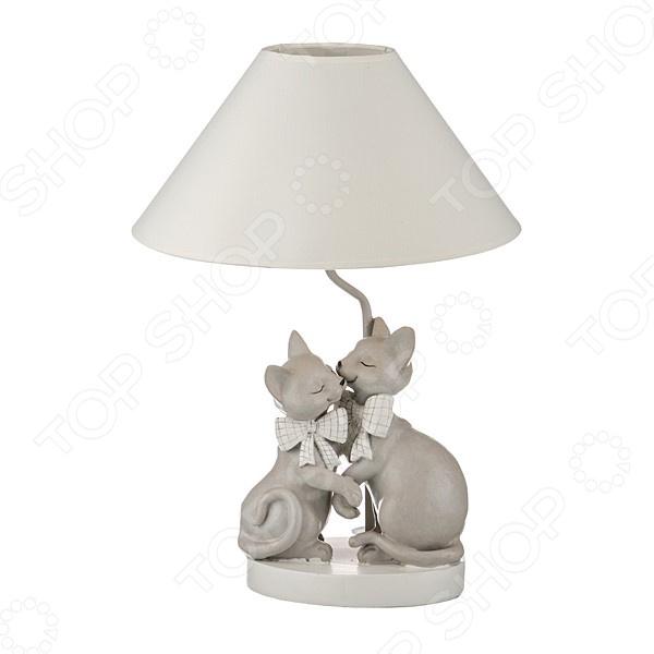 Светильник настольный с абажуром Lefard «Кошки» 599-146