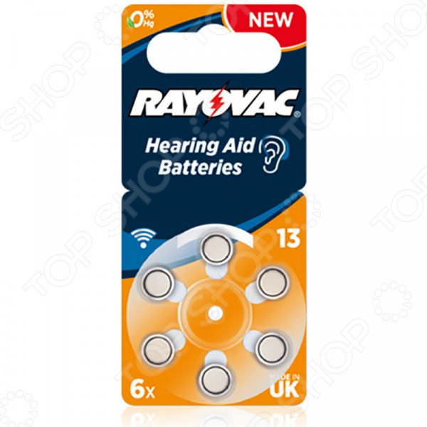 Комплект батареек для слуховых аппаратов Rayovac Acoustic Type 13 Hearing Aid bte hearing aid sound amplifier adjustable s 998 digital hearing aid behind ear deaf sound voice amplifier enhancement