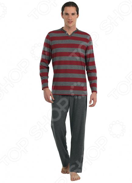 Комплект домашний мужской BlackSpade 7542. Цвет: бордовый