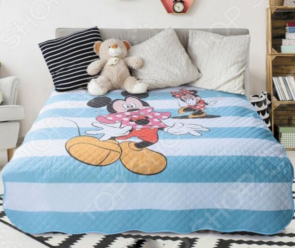 Покрывало Волшебная ночь Disney. Oh, Mickey! желтое покрывало на кровать