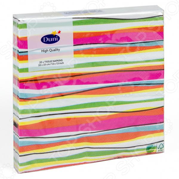 Салфетки бумажные Duni Felicia Stripes 173386