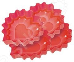 Набор форм для выпечки Regent Silicone «Валентинки»