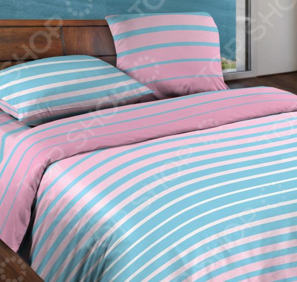 Комплект постельного белья Wenge Stripe. Цвет: розовый