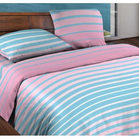 Купить Комплект постельного белья Wenge Stripe. 1,5-спальный. Цвет: розовый