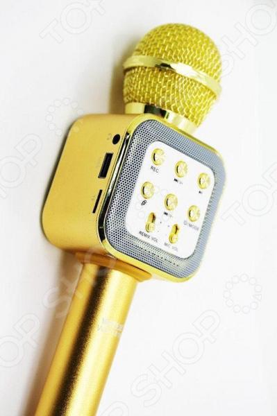 Микрофон для караоке WS-1818    /Золотистый