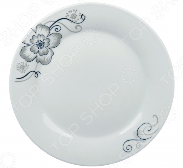 Тарелка десертная Royal Union «Серый цветок»