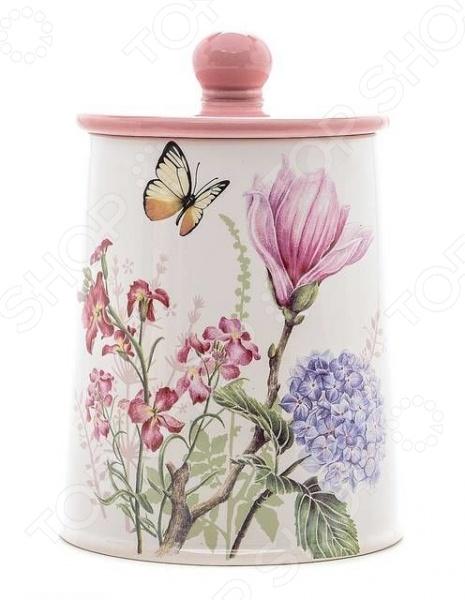 цена на Банка для сыпучих продуктов Loraine LR-25632 «Бабочки»