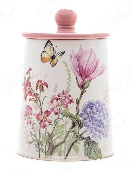 Банка для сыпучих продуктов Loraine LR-25632 «Бабочки» набор банок для сыпучих продуктов loraine бабочки 6 предметов 25633