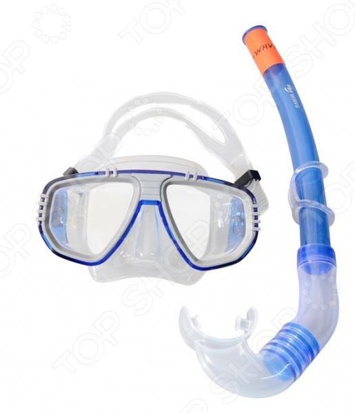 Набор из маски и трубки WAWE MS-1314S5 Набор из маски и трубки WAWE MS-1314S5 /Серый/Синий