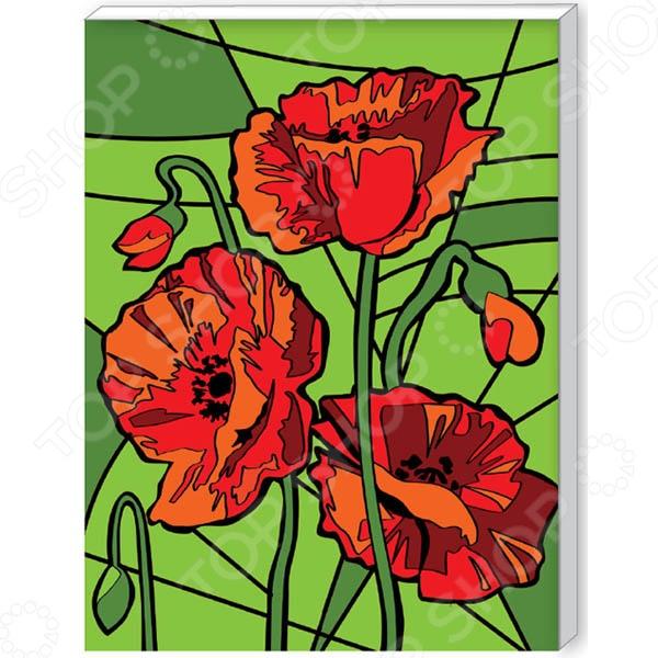 Набор для росписи холста по номерам Креатто «Яркие маки»