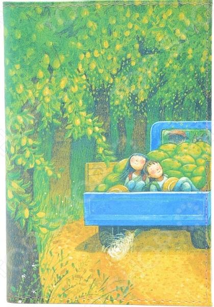 Обложка для автодокументов кожаная Mitya Veselkov «Дети в грузовике с дынями»