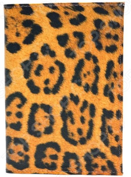 Обложка для паспорта кожаная Mitya Veselkov «Леопардовый принт»  обложка для паспорта mitya veselkov арбузный принт ok171