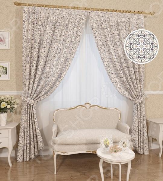 Комплект штор Сирень «Восток» комплект штор с покрывалом для спальни в москве