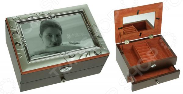 Шкатулка-фоторамка ювелирная двухъярусная Moretto 39844